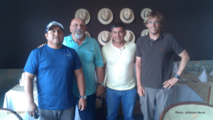 Small-group meeting with skippers and ISSF workshop leaders in Manta (Ecuador), 2016